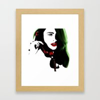 christmas calling Framed Art Print