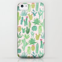 iPhone 5c Cases featuring Cactus by Abby Galloway