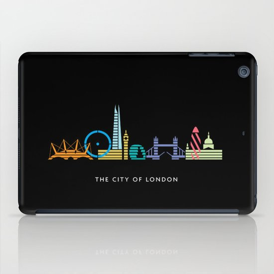 London Skyline Black iPad Case