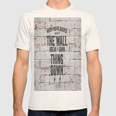 Motivational quote n. 2 Mens Fitted Tee Natural SMALL