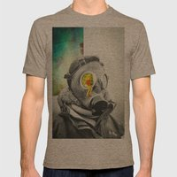 Lung Blood Mens Fitted Tee Tri-Coffee SMALL