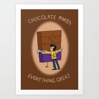 Chocolate! Art Print