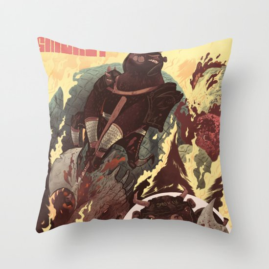 Ye Olde Smokey Throw Pillow