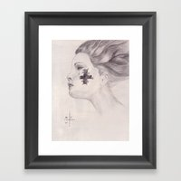 Tear & Cross Framed Art Print