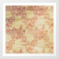 Cabbage Roses - Wood Art Print