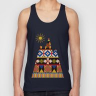 Colourful Tribal Aztec P… Unisex Tank Top