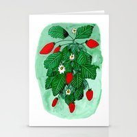 Strawberries Stationery Cards
