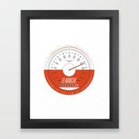 FU MANCHU - Austin, TX - 04/27/13 Framed Art Print