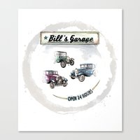 Bill's Garage Canvas Print