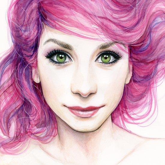 Pink Hair Canvas Print