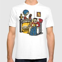 A Quiet Evening at Home Mens Fitted Tee White SMALL