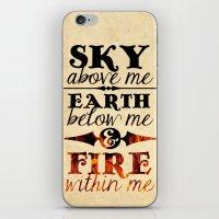 Sky Earth Fire iPhone & iPod Skin