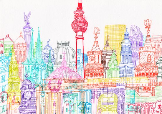 Berlin Towers Art Print