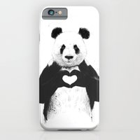 illustration iPhone & iPod Cases featuring All you need is love by Balazs Solti