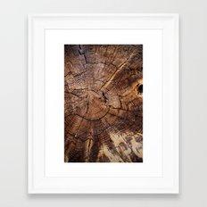 knock on wood Framed Art Print