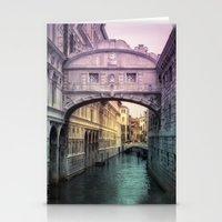 Ponte dei Sospiri | Bridge of Sighs - Venice (colored version) Stationery Cards