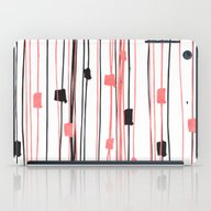 Hand Drawn Coral Black W… iPad Case