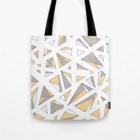 Refracted Diamond - Yell… Tote Bag