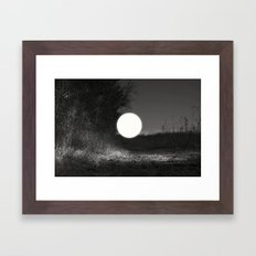sleepwalking around the sun again Framed Art Print