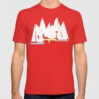 Segelboote - Sailboats Mens Fitted Tee Red SMALL