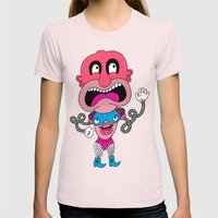 Red Face Weirdo Womens Fitted Tee Light Pink SMALL