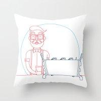 Coffee (lineart) Throw Pillow