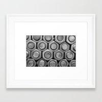STUDS (b&w) Framed Art Print