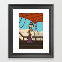 EP6 : Slave Leia Framed Art Print