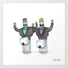 It's Wine in a Box Art Print