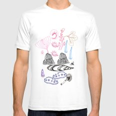 Bits & Pieces SMALL White Mens Fitted Tee