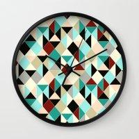 Harlequin tile Wall Clock