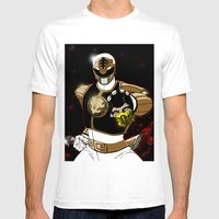 White Ranger Vs. Scorpion Mens Fitted Tee White SMALL
