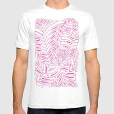 Markings SMALL White Mens Fitted Tee