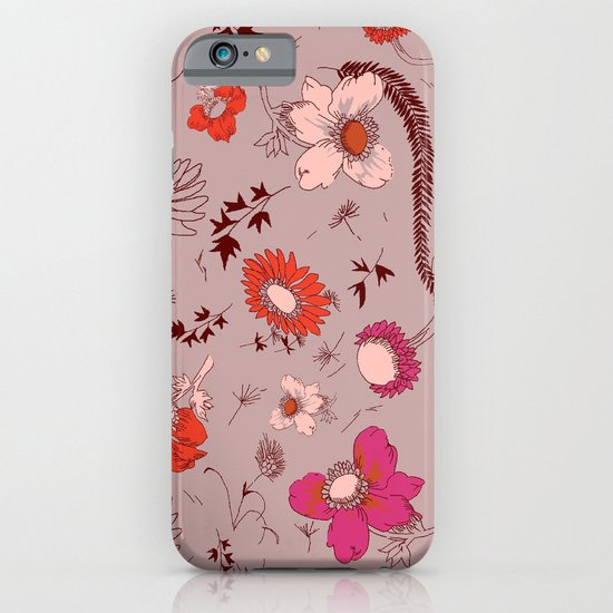 large floral print - pinks iPhone & iPod Case