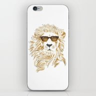 iPhone & iPod Skin featuring 'king Cool by Andrew Treherne