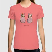 No Worries Womens Fitted Tee Pomegranate SMALL