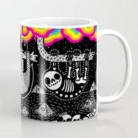 Sloths, Pyramids, Skulls, Rainbow Clouds Mug