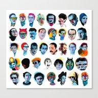 Canvas Print featuring Heads by Alvaro Tapia Hidalgo