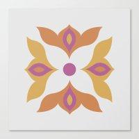 Spiced Swirls [Flower] Canvas Print