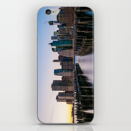 Sunset over Manhattan iPhone & iPod Skin