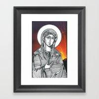 Madonna Of The Volcanoes Framed Art Print