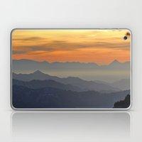 Mountains. Foggy Sunset Laptop & iPad Skin