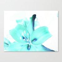 Neon Petals Canvas Print