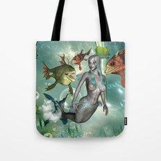 Wonderful dark mermaid  Tote Bag