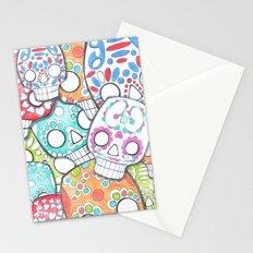 skulls sugar Stationery Cards