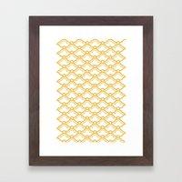 Matsukata II Mustard Framed Art Print