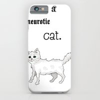 iPhone & iPod Case featuring Neurotic Cat by Deesign