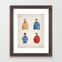 Polygon Heroes - Trekkies Framed Art Print