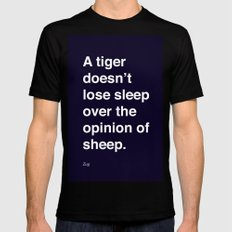 sheeple SMALL Mens Fitted Tee Black