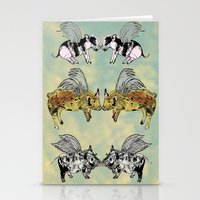Pigs on the wing Stationery Cards
